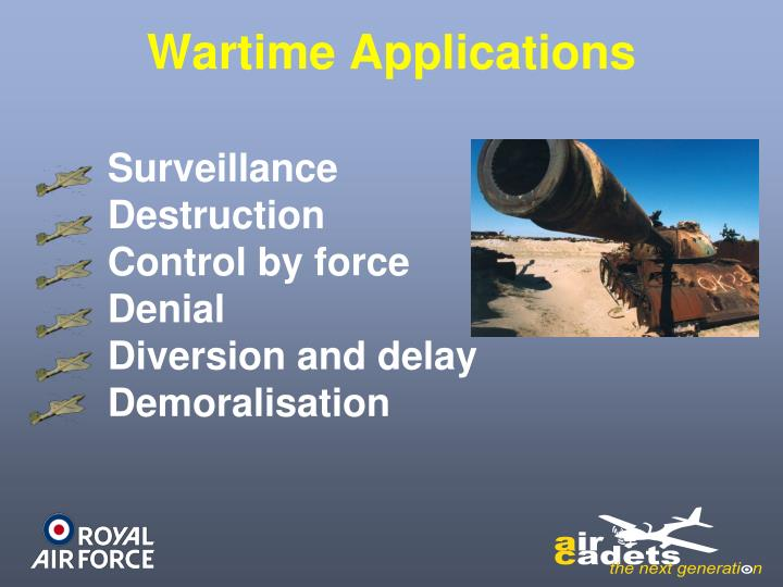 Wartime Applications