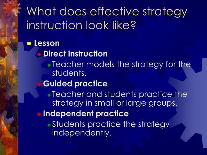 What does effective strategy instruction look like?