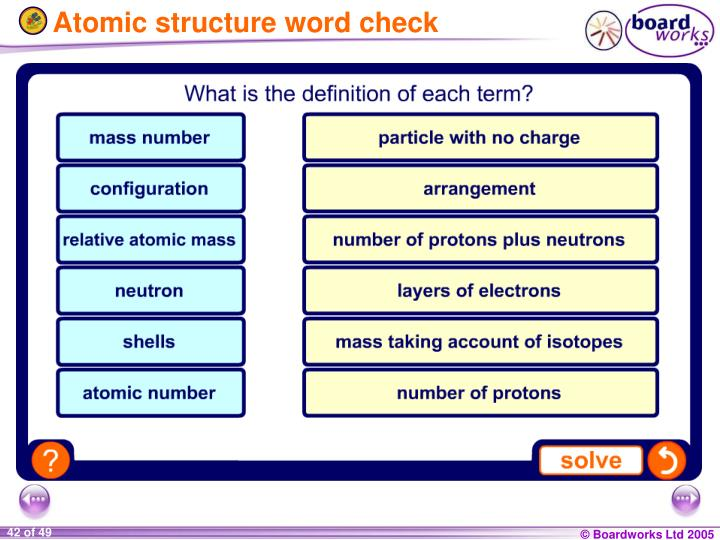 Atomic structure word check