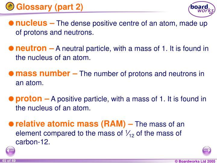 Glossary (part 2)