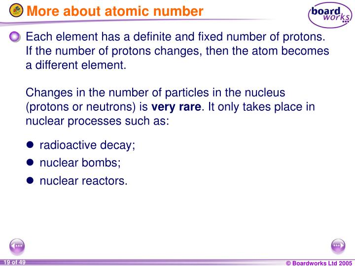 More about atomic number