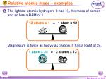 relative atomic mass examples