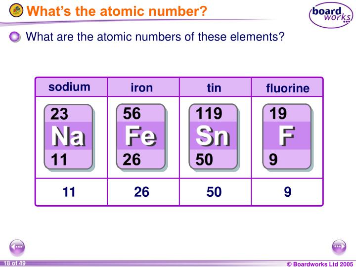 What's the atomic number?