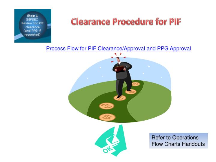 Clearance Procedure for PIF