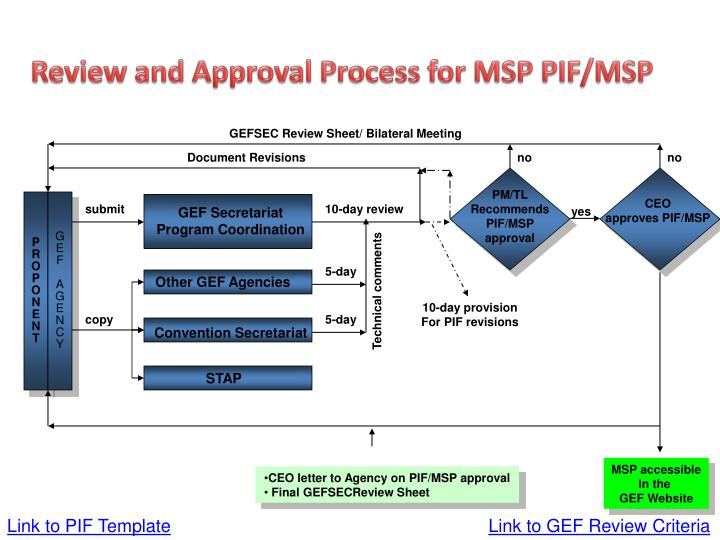 Review and Approval Process for MSP PIF/MSP