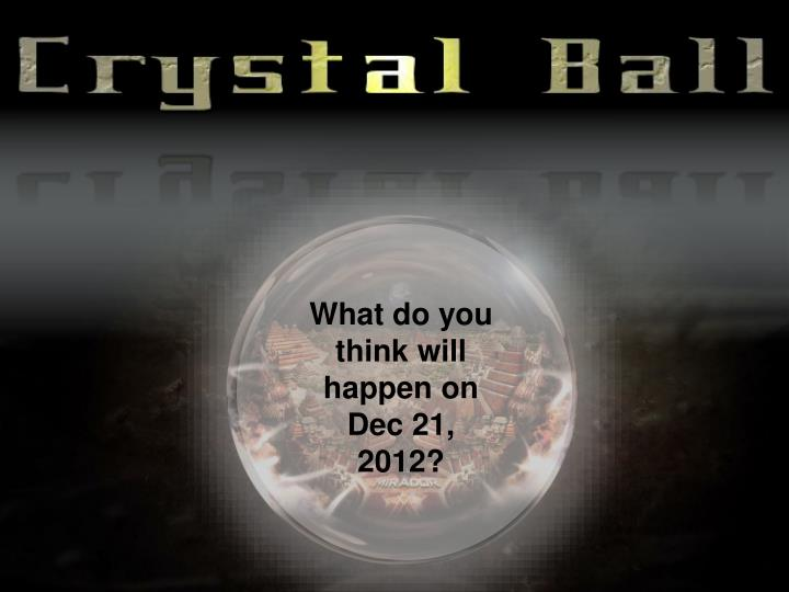 What do you think will happen on Dec 21, 2012?