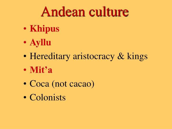 Andean culture