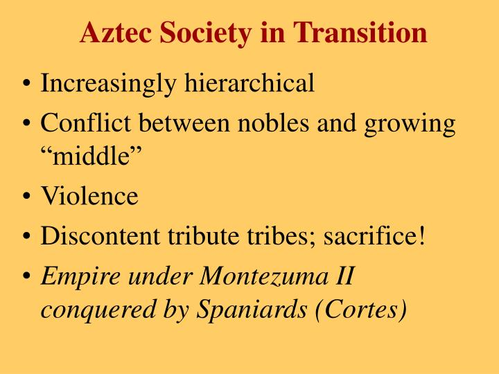 Aztec Society in Transition