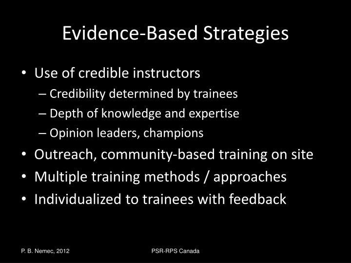 Evidence-Based Strategies
