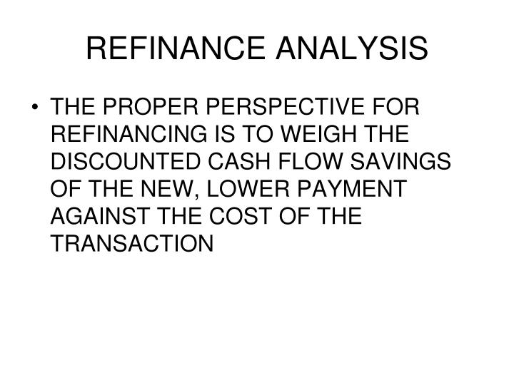 REFINANCE ANALYSIS