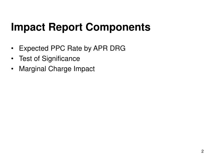 Impact Report Components