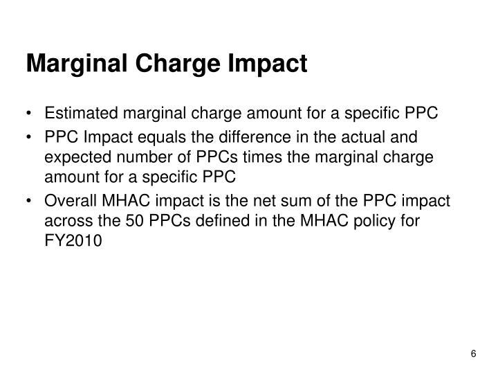 Marginal Charge Impact