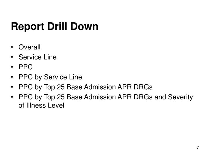 Report Drill Down