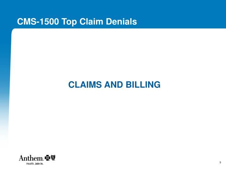 CMS-1500 Top Claim Denials