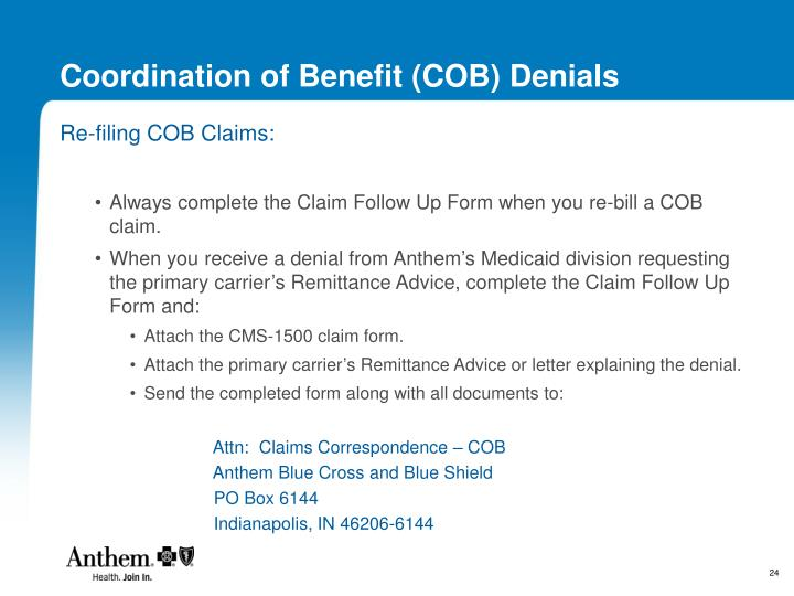 Coordination of Benefit (COB) Denials