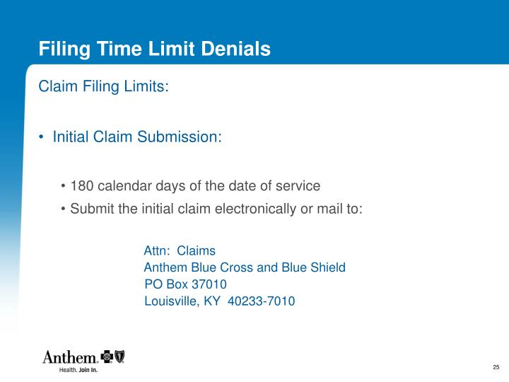 Filing Time Limit Denials
