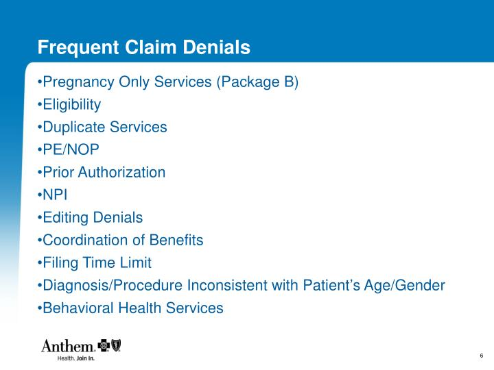 Frequent Claim Denials