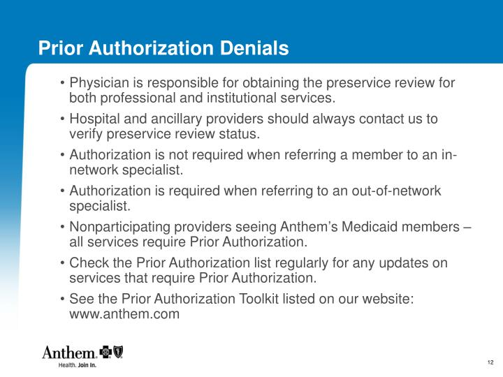 Prior Authorization Denials