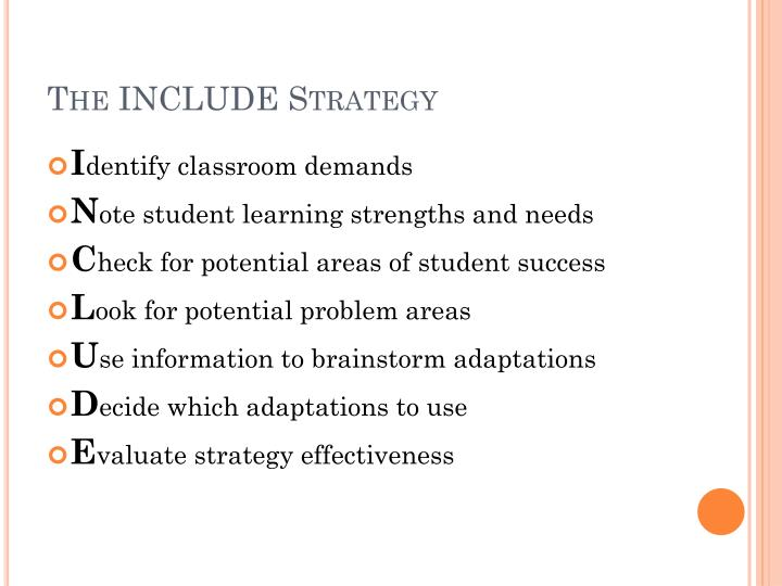 The include strategy1
