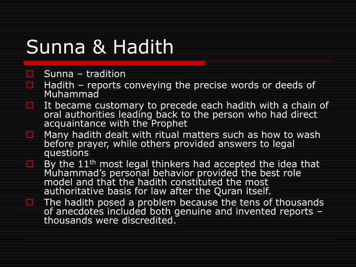 Sunna & Hadith