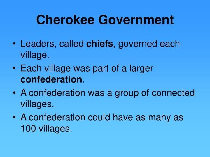 Cherokee Government