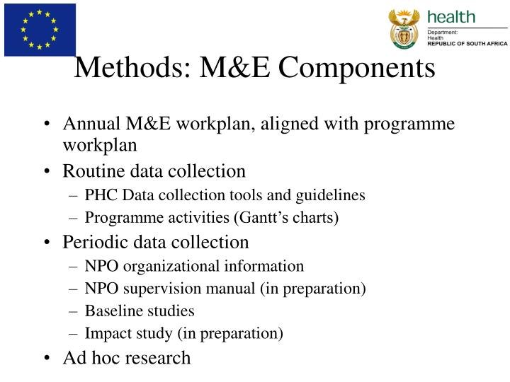 Methods: M&E Components