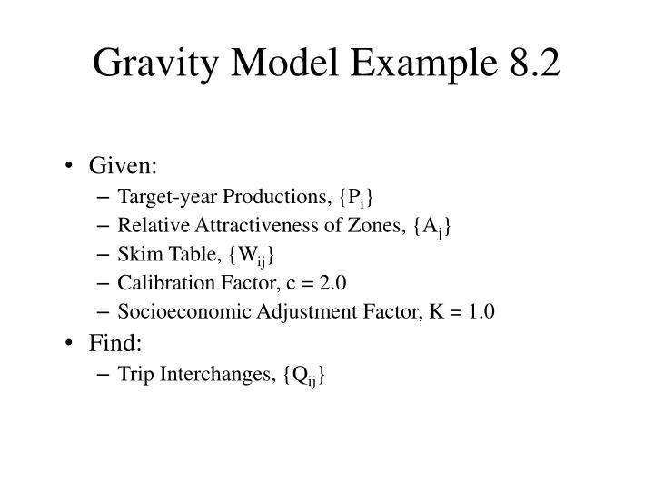 Gravity Model Example 8.2