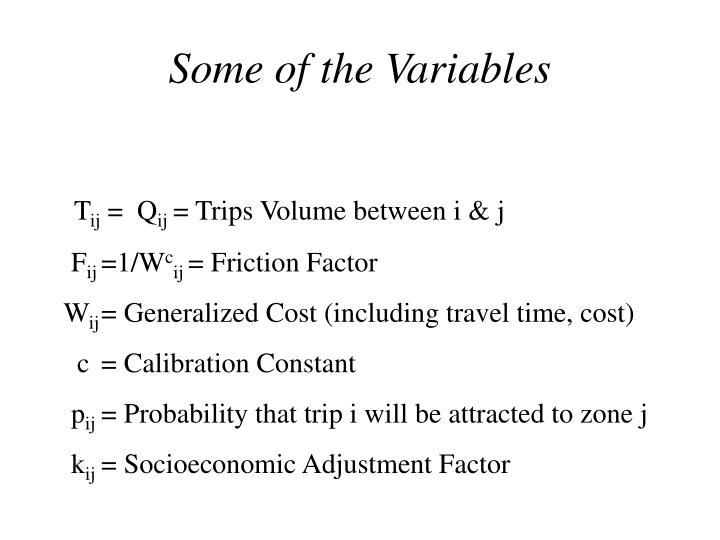 Some of the Variables