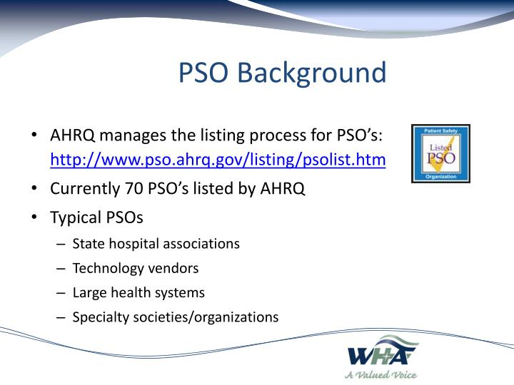 PSO Background