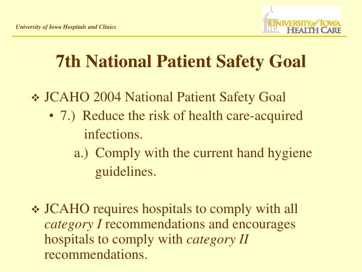 7th national patient safety goal