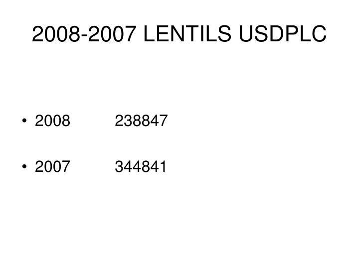 2008-2007 LENTILS USDPLC