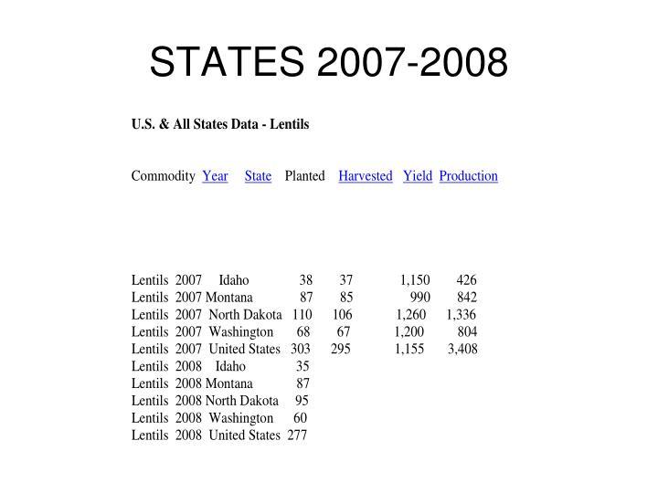 STATES 2007-2008