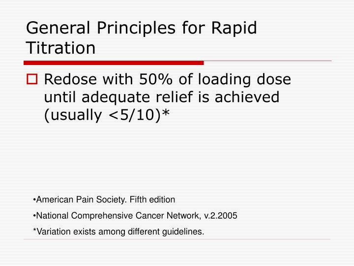General Principles for Rapid Titration