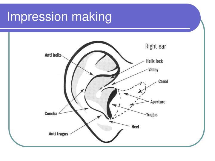 Impression making