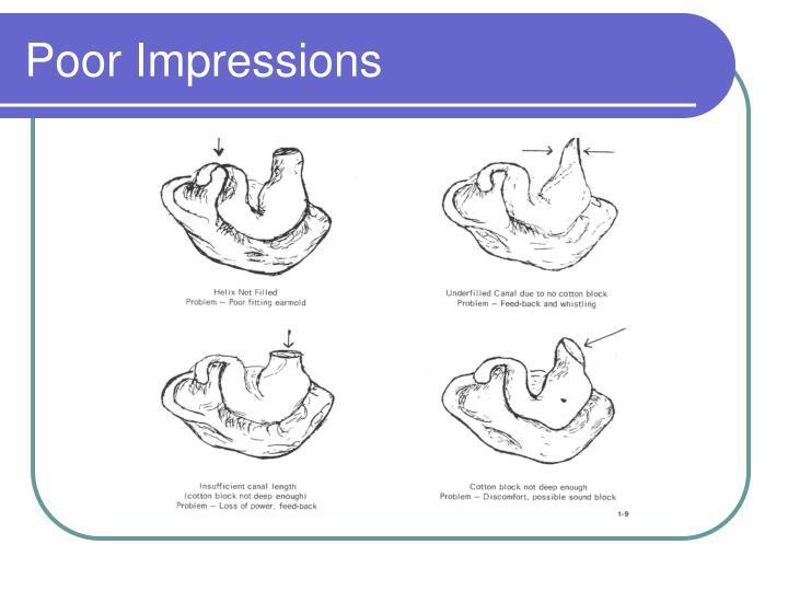 Poor Impressions