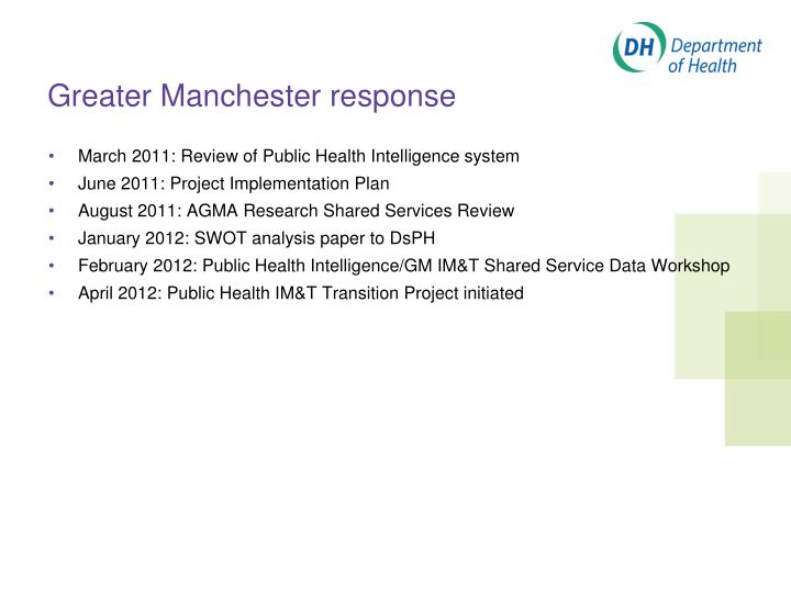 Greater Manchester response