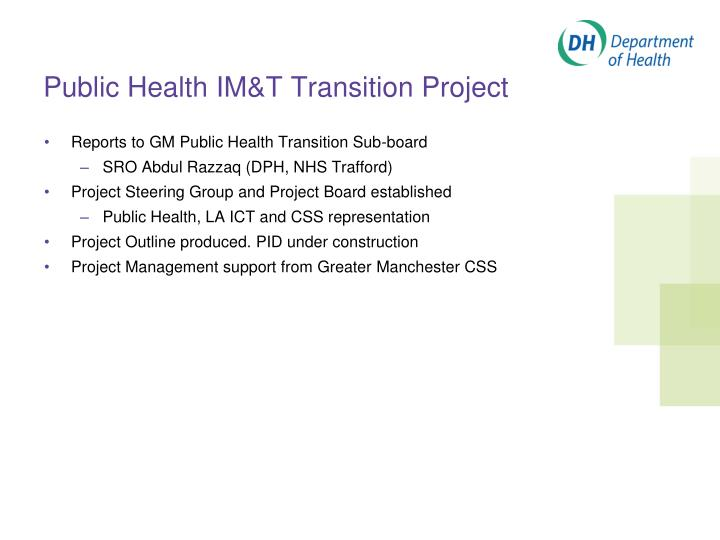 Public Health IM&T Transition Project