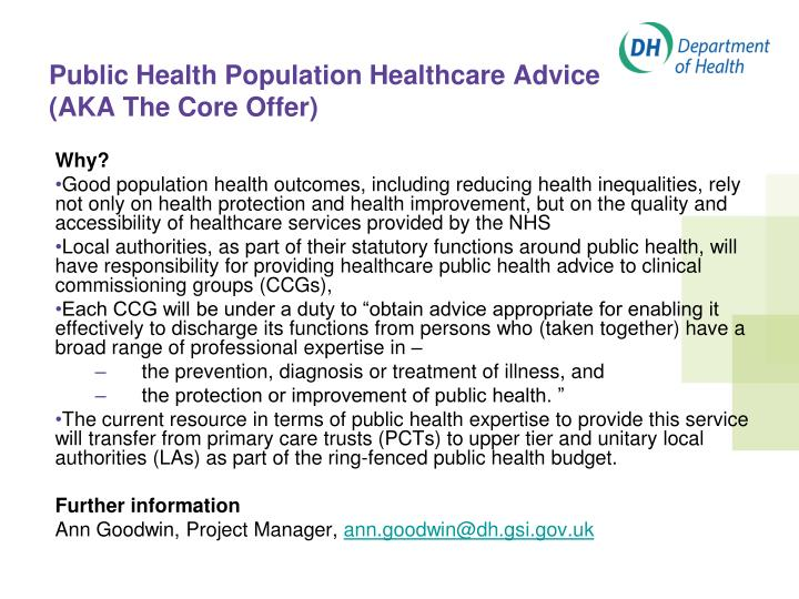 Public Health Population Healthcare Advice