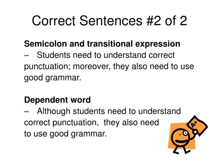 Correct Sentences #2 of 2