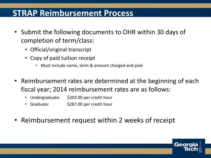 STRAP Reimbursement Process