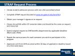 strap request process