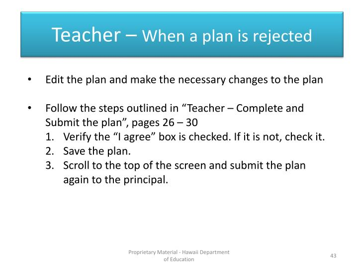 Teacher –