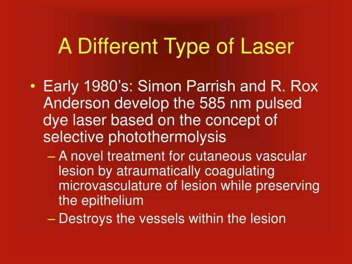 A Different Type of Laser
