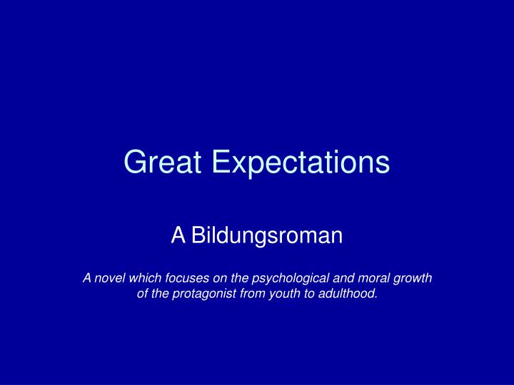 What are some of the important events in Great Expectations?