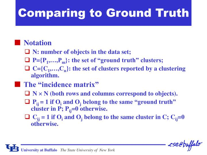 Comparing to Ground Truth