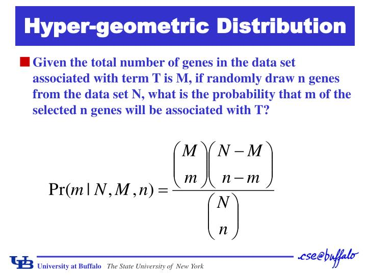 Hyper-geometric Distribution