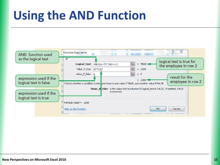 Using the AND Function