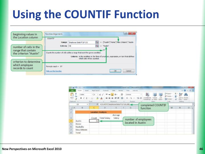Using the COUNTIF Function