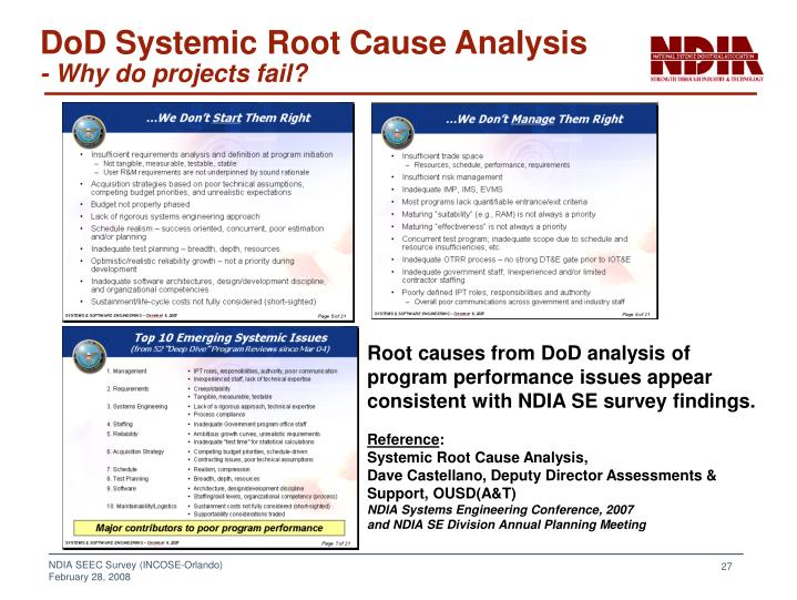 DoD Systemic Root Cause Analysis
