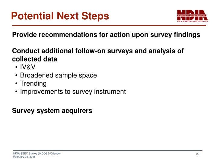Potential Next Steps